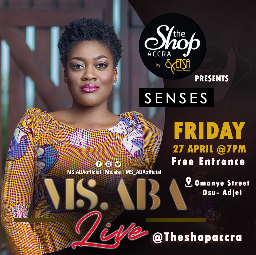Ms.aba live in Accra, Ghana