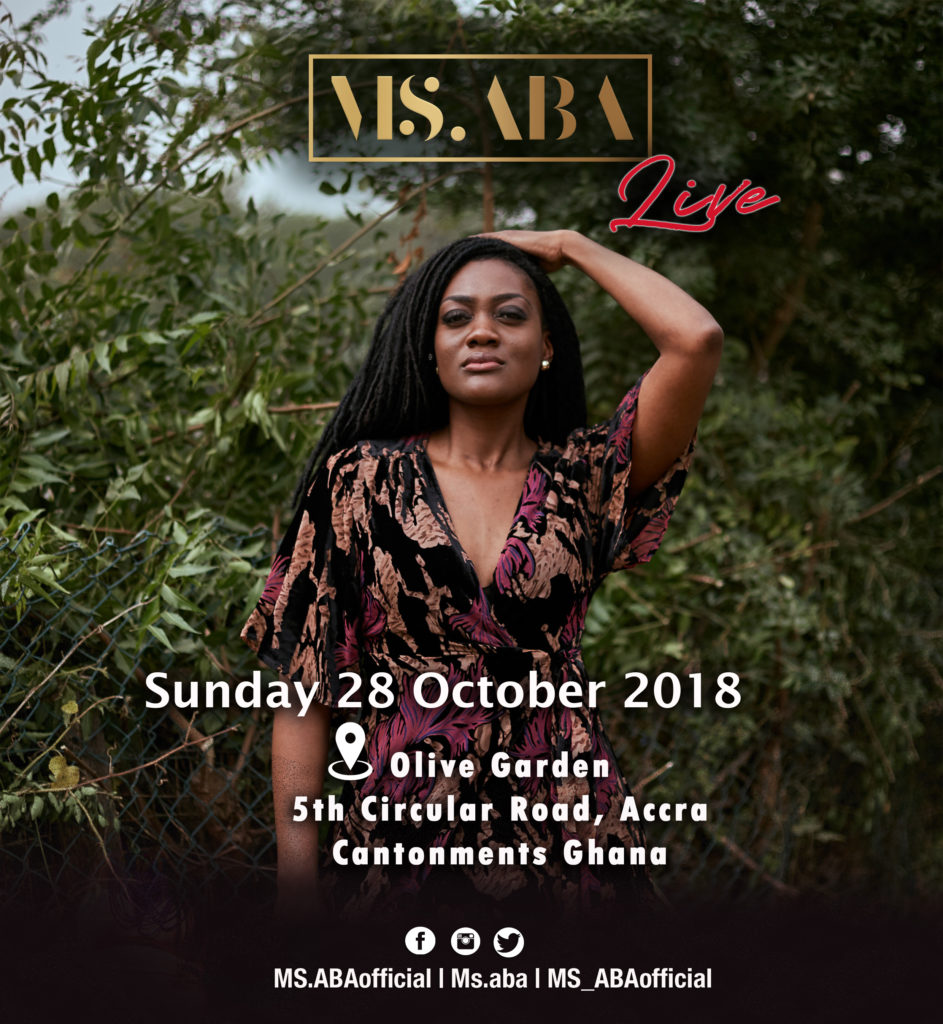MS.ABA live at Olive Garden in Accra
