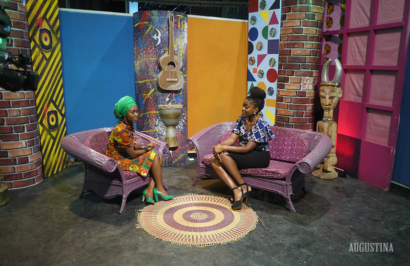 Augustina appears on TV Africa Ghana