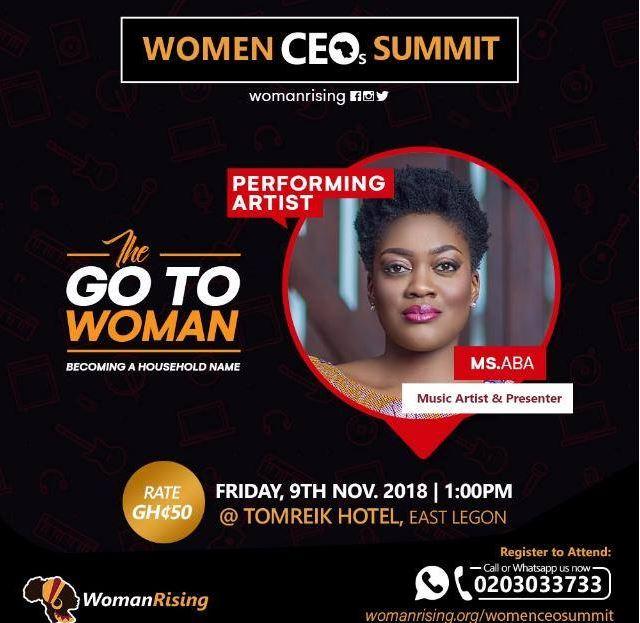 MS.ABA live at Woman Rising CEO Summit (Ghana)